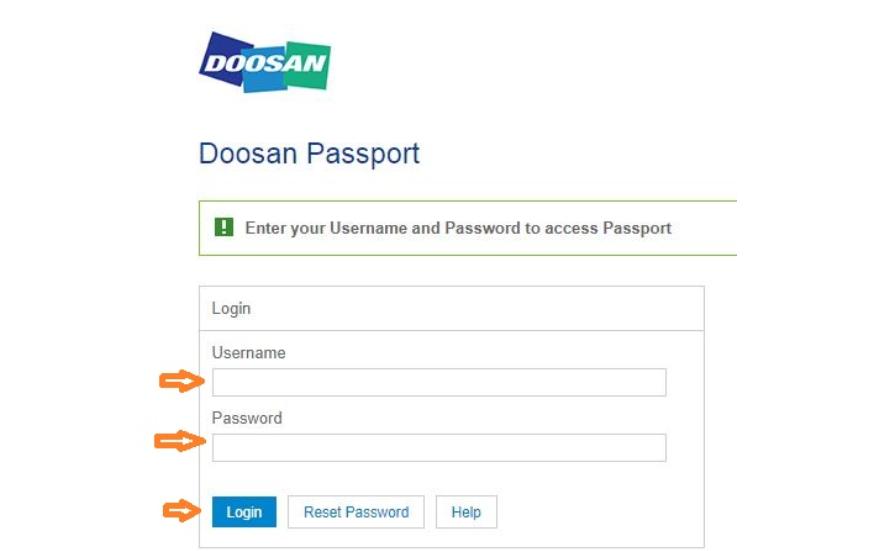 Doosan Passport login