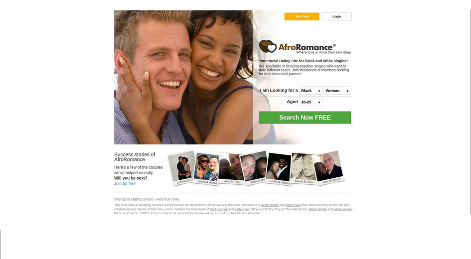 Afro Romance dating site